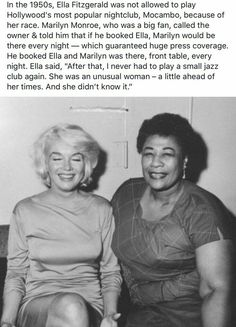 Maryln Monroe was good people. You are in the right place about American History facts Here we offer you the most beautiful pictures about the American History projects you are looking for. Black History Quotes, Black History Facts, Random History Facts, Black History People, Ella Fitzgerald, Faith In Humanity Restored, Badass Women, Interesting History, Women In History