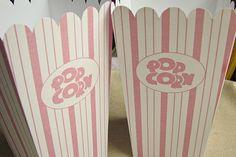 free printable vintage popcorn box