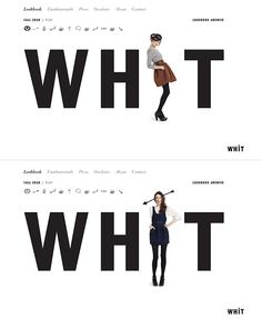 Old homepage for Whit (via site inspire)