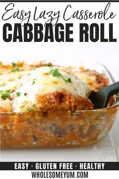 Cheesy Recipes, Beef Recipes, Cooking Recipes, Healthy Cabbage Recipes, Paleo Casserole Recipes, Tasty Videos, Food Videos, Lazy Cabbage Rolls, Eat Healthy