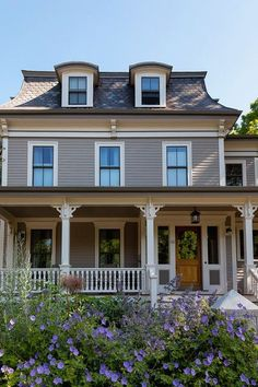 Mansard Roof Design Ideas, Pictures, Remodel, and Decor - page 2 House Paint Exterior, Exterior House Colors, Exterior Design, Roof Design, House Design, Deck Design, Fresco, Victorian Windows, Victorian Houses