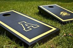 ASU Cornhole Boards - much needed! Cornhole Boards, Love Craft, Feeling Happy, Black N Yellow, Crafty, State University, Fun Things, Favorite Things, Parents