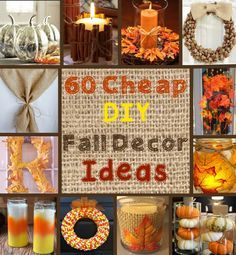 100 Cheap and Easy Fall Decor DIY Ideas Holiday: Cheap Fall diy fall decor crafts - Diy Fall Crafts Easy Thanksgiving Crafts, Autumn Crafts, Thanksgiving Table, Harvest Crafts, Holiday Crafts, Autumn Ideas, Craft Projects For Adults, Fall Projects, Bricolage