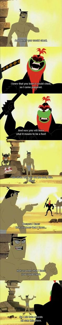 Further proof that Jack is actually Samurai Batman... also, this conversation reminds me of L and Light from Death Note