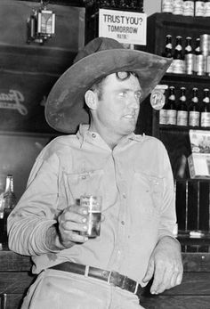 Traces of Texas    Cowboy with beer in Alpine, 1944.