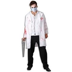 Mens Halloween doctor fancy dress BNAC168