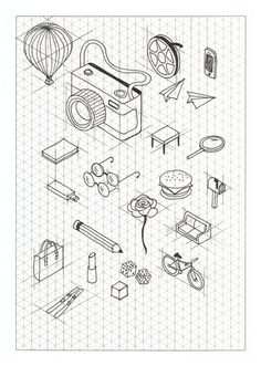 Isometric Paper  Dots  Hand Lettering    Isometric