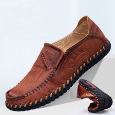 1aba369879273 US$35.82 - Men Hand Stitching Super Soft Sole Slip On Casual Loafers Casual  Loafers,