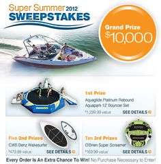 2012 Summer Sweepstakes