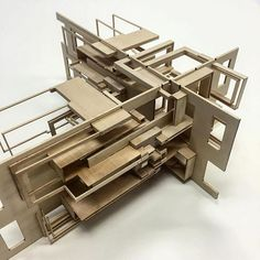 Student work by Edy Gheorghe. Handcrafted basswood model of ATOM Project . Based on the quantum properties of the element Aluminum, atomic number 13 -electron orbitals, mass, atomic radius, etc. Architecture Model Making, Interior Architecture, Interior Design, Atom Project, Atom Model, Mid Century Design, Atomic Number, Number 13, Mid-century Modern