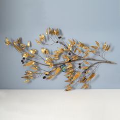 Vintage C. Jere Brass Branch and Butterfly Wall Sculpture by MidModMomStore on Etsy https://www.etsy.com/listing/230209405/vintage-c-jere-brass-branch-and