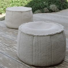 The Paola Lenti Aqua Collection  - Perfect for the garden and the terrace, the pool or on board a yacht. - with fully removable covers, available in different, shapes and sizes. - with infinite color combinations.