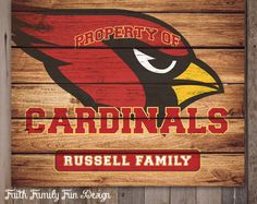 Have your own customized Arizona Cardinals sign hanging in your office, your home, your kids room, or anywhere else that you want to show
