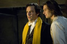Dorian Gray (2009) Starring: Ben Chaplin as Basil Hallward and Ben Barnes as Dorian Gray. (click thru for larger image)