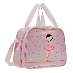 "Starlite 250 Pink Star Ballerina Holdall.  Childrens Dance Bag Fabric : Nylon Size : 25 cm x 20 cm 10 cm (10"" X 8"" X 4"") Colour : Pink www.dancinginthestreet.com Dance Bags, Pink Stars, Dance Wear, Ballerina, Back To School, Essentials, Dance Shoes, Ballet, Accessories"