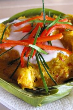Cambodian amok curry