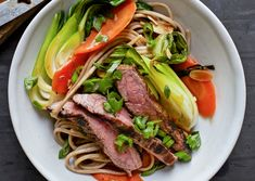 17 Quick Stir-Fry Recipes to Cook on Weeknights - Bon Appétit ~ Steak and Soba Stir fry Steak Stirfry Recipes, Stir Fry Recipes, Steak Recipes, Quick Recipes, Asian Recipes, Cooking Recipes, Healthy Recipes, Healthy Lunches, Noodle Recipes