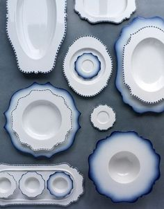 Dekor Blue 'Taste' plate, by Paola Navone, for Reichenbach.