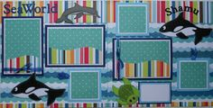 Sea World Scrapbook Layout... could also be used for Marine Land or another Aquarium