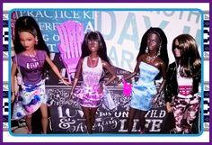 Black Barbie friends - OOAK style by Aneka