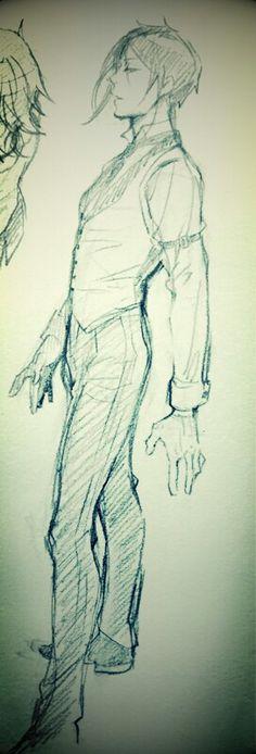 Sebastian Michaelis By: Yana Toboso Grell Black Butler, Black Butler Sebastian, Black Butler Kuroshitsuji, Ciel Phantomhive, Shall We Date, Anime Sketch, Sketch 2, Beautiful Drawings, Manga Drawing