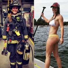 15 Unbelievable Photos of Beautiful Girls With And Without Uniform - Page 8 of 16 - Pins News Female Firefighter, Volunteer Firefighter, Firefighter Workout, Military Girl, Female Soldier, Military Women, Mädchen In Bikinis, Girls Uniforms, Sexy Hot Girls