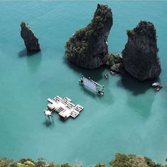 The swim in theatre...floating movie-theater set in the private island of Yao Noi in Andaman Sea, Thailand