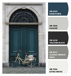 Paint colors from Chip It! by Sherwin-Williams Front Door Paint Colors, Exterior Paint Colors For House, Painted Front Doors, Paint Colors For Home, Exterior Colors, House Exterior Color Schemes, New Wall, My New Room, Room Colors