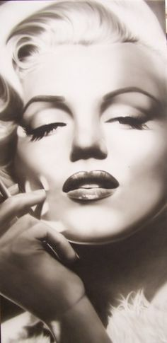 Marilyn Monroe air brushed portrait by Keith Nelson