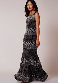 8d50a52d71b Virgos Lounge Black Arizona Embellished Cocktail Wedding Long Maxi Dress 6  - 16  VirgosLounge