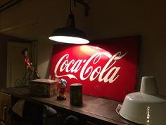 Insegna coca-cola in ferro smaltata