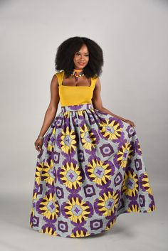 SPRING SALE Debbie Maxi Skirt African print skirt by RAHYMA