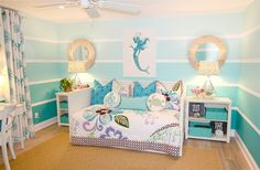 Mermaid Bedroom - beach-style - Kids - Orange County - Nagwa Seif Interior Design