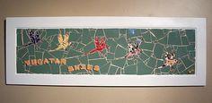 """""""Yucatan Skies"""" Colorful Macaws Parakeets Wood Framed Mosaic Wall Art"""