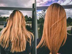 Strzyżenie damskie przed i po Poznań #hairstyles #haircolor