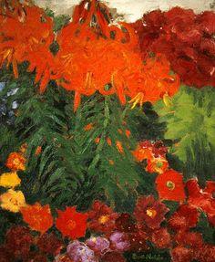 Emil Nolde - Fire Lilies, 1925