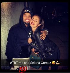 David Correy and Selena Gomez