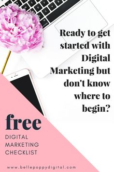 Stop worrying about digital marketing and get started with this free digital marketing checklist for your business. An online presence can make or break your business these days. This checklist will lead you through goal setting and digital inventory, setting up your website, social media, email marketing, and digital advertising.