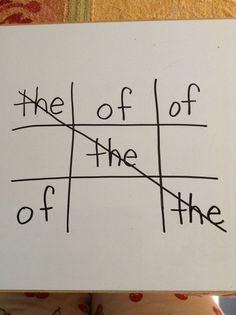 Play tic tac toe with spelling words... to play, students have to repeatedly write the sight word... fun way to practice!