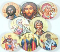 Greek Orthodox Icon Magnet Set Religious Icons by bebesniklefritz