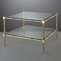 Modern Furniture   Meurice Two-Tier Table   Jonathan Adler