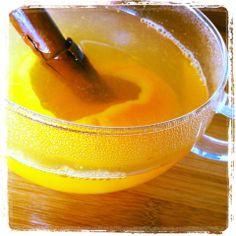 Orange & Cinnamon herbal tea - perfect for a winter's night