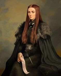 "Sansa Stark, queen of Winterfell. ""I'm a slow learner, it's true. Sansa Stark, Dessin Game Of Thrones, Game Of Thrones Art, Winter Is Here, Winter Is Coming, Game Of Trone, Film Manga, My Champion, House Stark"