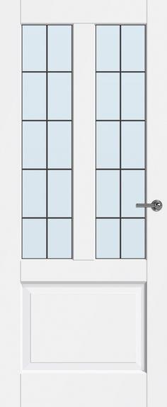 Binnendeuren Jersey met glas-in-lood 10-ruits