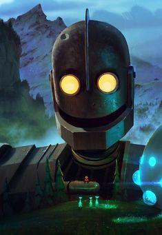BROTHERTEDD.COM Dystopian Art, The Iron Giant, Robot Illustration, Arte Robot, Illustrator, Cultura Pop, Amazing Art, Awesome, Game Art