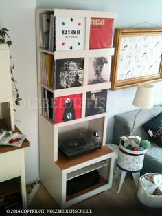 Projekt Vinyl-Plattenschrank von HOLZbeidiefische. Eine komplette Projektbeschreibung findet Ihr auf www.holzbeidiefische.de