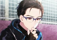 And you thought he was hot without the glasses and skating Eros
