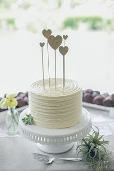 White Wedding Cakes - Rustic Summer Wedding at Orcutt Ranch Small Wedding Cakes, Wedding Cake Rustic, White Wedding Cakes, Cake Wedding, Wedding Ceremony, Wedding Venues, Pretty Cakes, Beautiful Cakes, Cake Simple