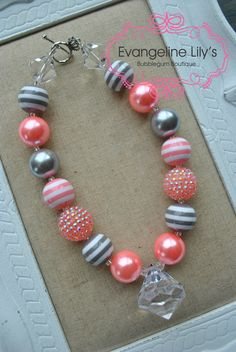 Chunky Bubblegum Necklace by EvangelineLilys on Etsy, $18.00