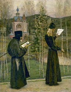 To the Sounds of Church Bells.1895. Mikhail Nesterov